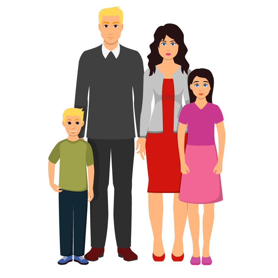 Familie uitstap